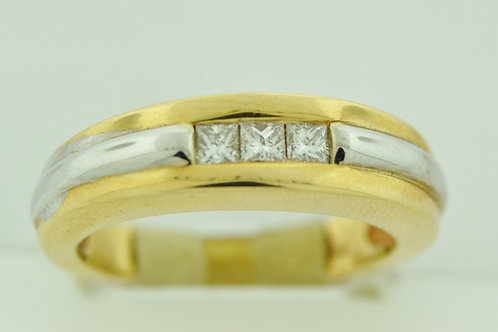 Two Tone Diamond Channel Band