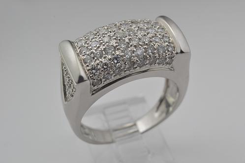 Large Statement Diamond Band, Set in 14k White Gold