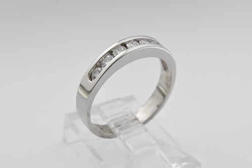 Channel Diamond Band, Set in 14k White Gold