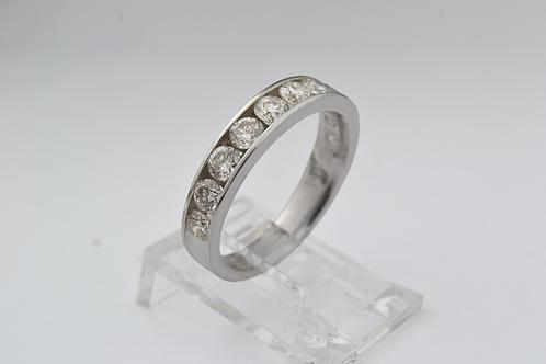 Channel-Set Diamond Ring, in 14k White Gold