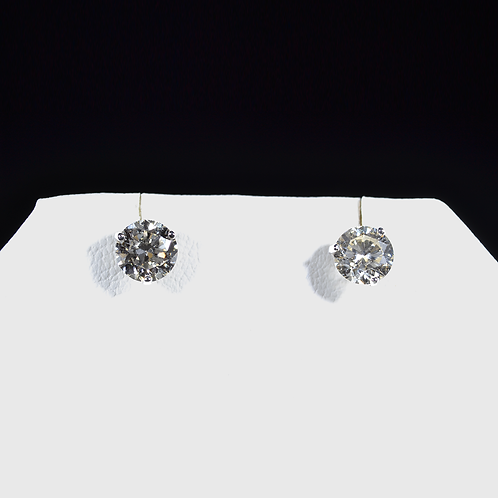 2.05CT Round Diamond Stud Earrings, in 14k White Gold