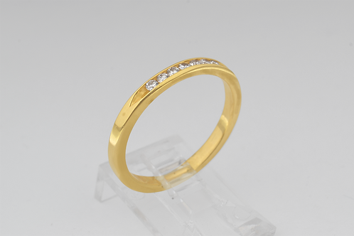 Channel-Set Diamond Band, in 14k Yellow Gold