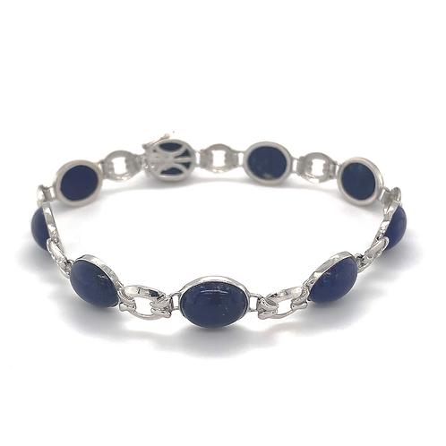Sterling Silver Lapis Lazuli Bracelet