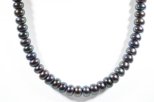 """18"""" Freshwater Black Pearl Necklace"""