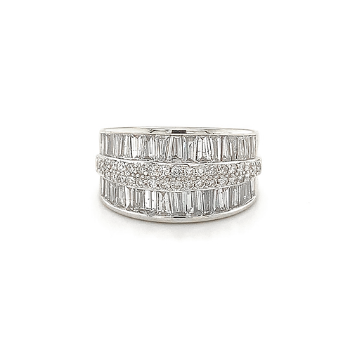 Channel-Set Diamond Band, in 10k White Gold