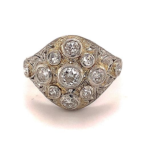 Antique Platinum Diamond Ring