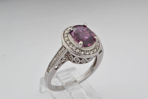 Natural Ruby Ring with Diamond Accents, in 14k Yellow Gold