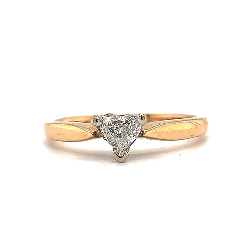 Heart-Cut Diamond Ring, in 14k Yellow Gold