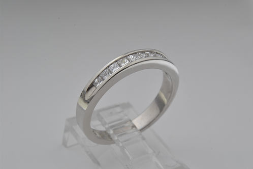 Square-Cut Channel Set Diamond Band, in 14k White Gold