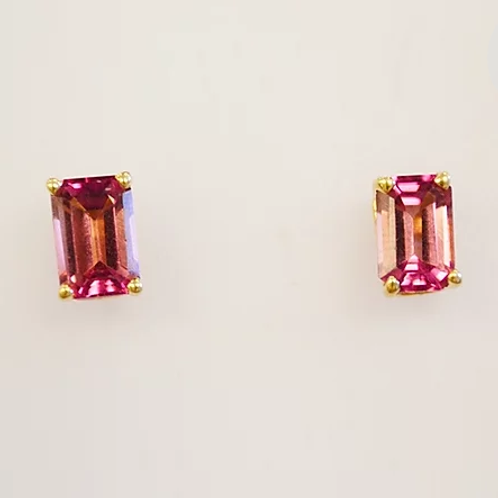 Fancy Topaz Stud Earrings in 14k Yellow Gold