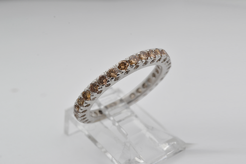 Chocolate Diamond Ring, in 14k White Gold