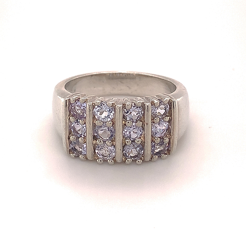 Sterling Silver Light Tanzanite Ring