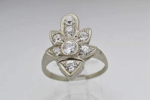 Diamond Ring, in 14k White Gold