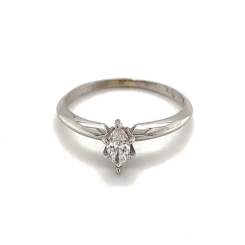 Marquis-Cut Diamond Ring, in 14k White Gold