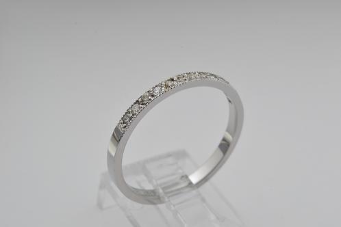 Pavé-Set Diamond Band, in 14k White Gold