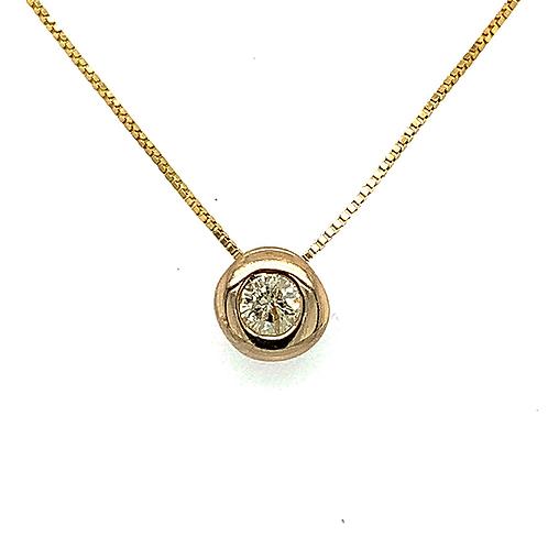Diamond Pendant, in 14k Yellow Gold