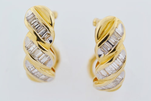 1.5ct Diamond Earrings in 14k Yellow Gold