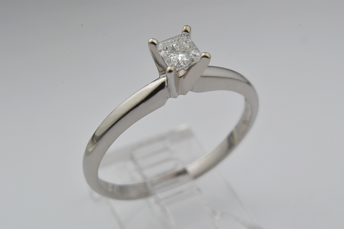 Square-Cut Diamond Ring, in 14k Yellow Gold