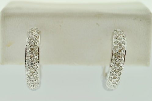 .75ct Pavé Diamond Hoop Earrings