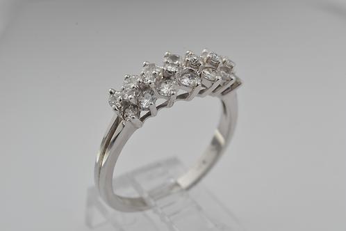 Prong-set Diamond Ring, Set in 14k White Gold