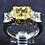 Thumbnail: Platinum & 18k Natural Fancy 2ct Yellow Diamond Ring with 1.52ct Mounting