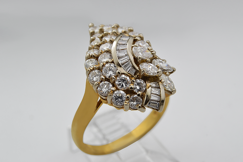 Diamond Fashion Ring, in 18k Yellow Gold