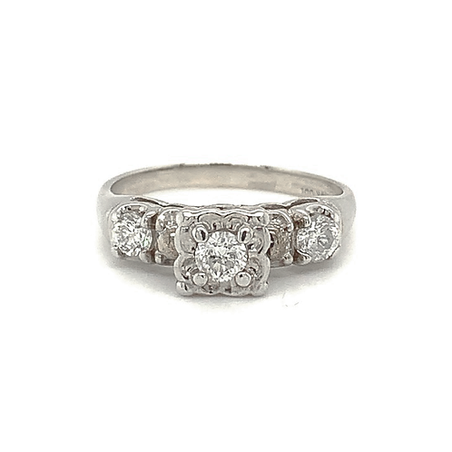 Heirloom Diamond Ring, in 14k White Gold