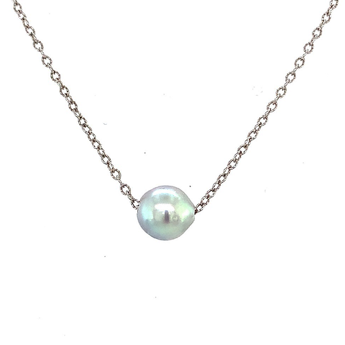 Genuine Pearl Sterling Silver Necklace