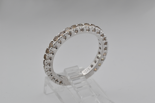 Fancy Chocolate Diamond Eternity Band, in 18k White Gold