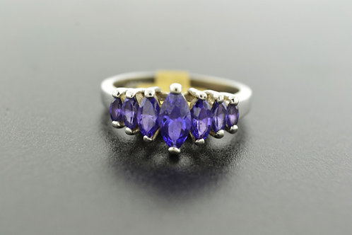 Amethyst Ring, Set in Sterling Silver