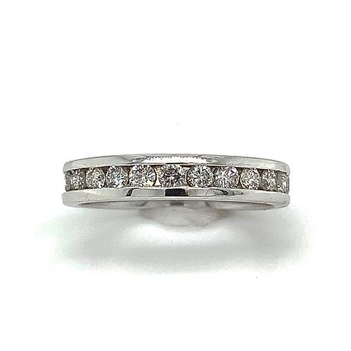 Channel Set Diamond Ring, in 14k White Gold