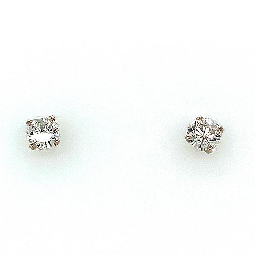 Diamond Earrings, in 14k White Gold