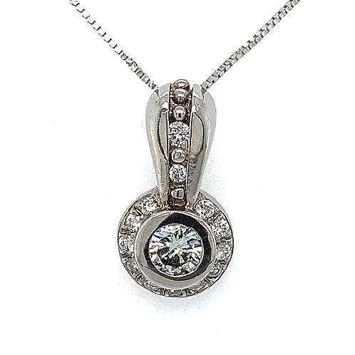 Diamond Pendant, in 14k White Gold