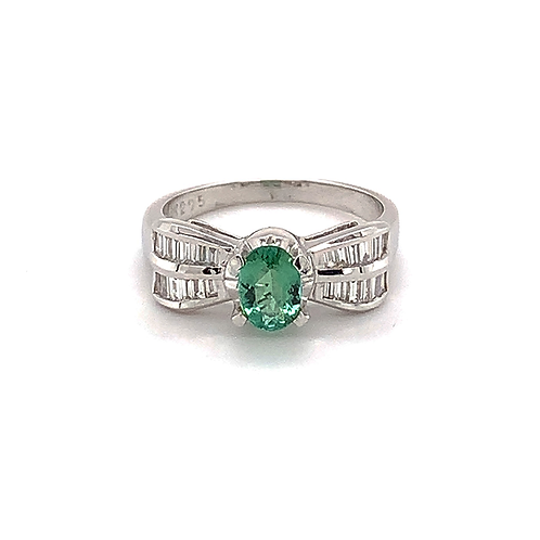 Paraiba Tourmaline and Diamond Ring, in 18k White Gold