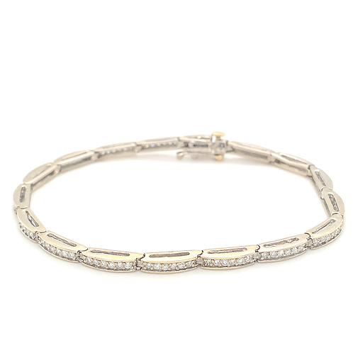 Diamond Tennis Bracelet, Set in 14k White Gold