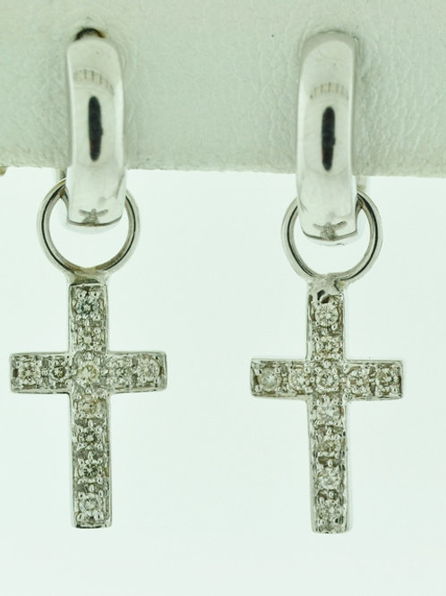 1/4ct Diamond Cross Earrings