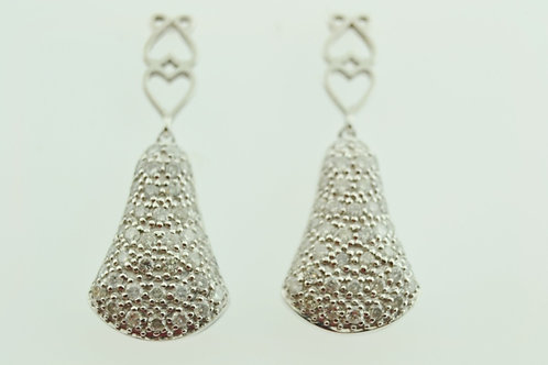 1ct Pavé Diamond Earrings