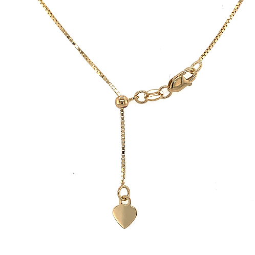 "20"" Adjustable Chain Necklace, in 14k Yellow Gold"