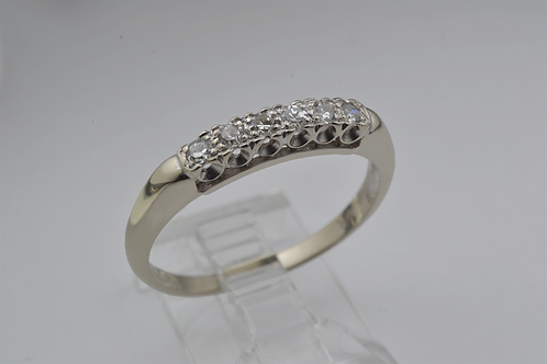 Round-Cut Diamond Ring, in 14k White Gold