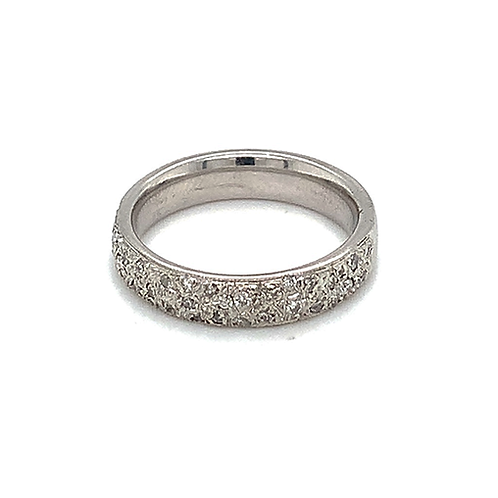 Pave-Set Diamond Band, in 14k White Gold