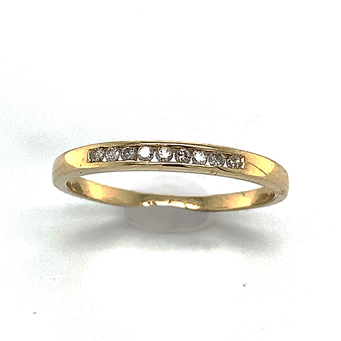 Diamond Channel Band in 14k Yellow Gold