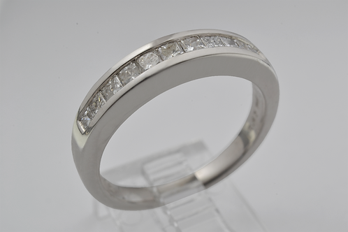 Square-Cut Channel-Set Band, in 14k White Gold