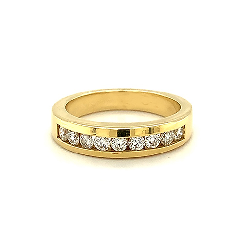Men's Channel-Set Diamond Band, in 14k Yellow Gold