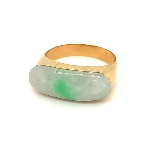 Burmese Jade Ring, in 14k Yellow Gold