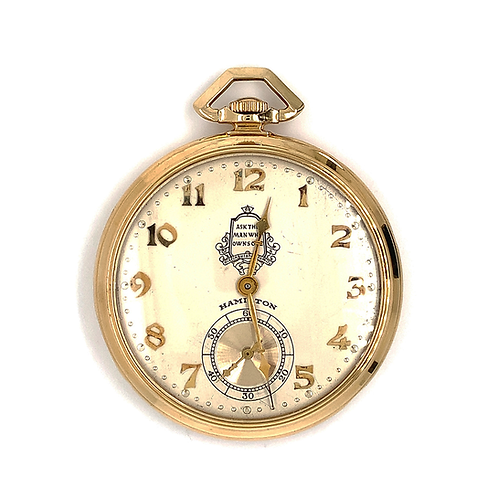 Antique Masterpiece Hamilton Pocket Watch, in 14k Yellow Gold