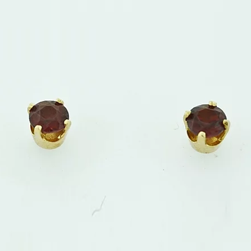 Round Garnet Studs