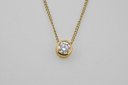 Diamond Solitaire Pendant, in 14k Yellow Gold