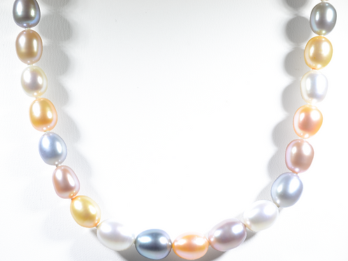 "18"" Multi-Color Freshwater Pearl Necklace"