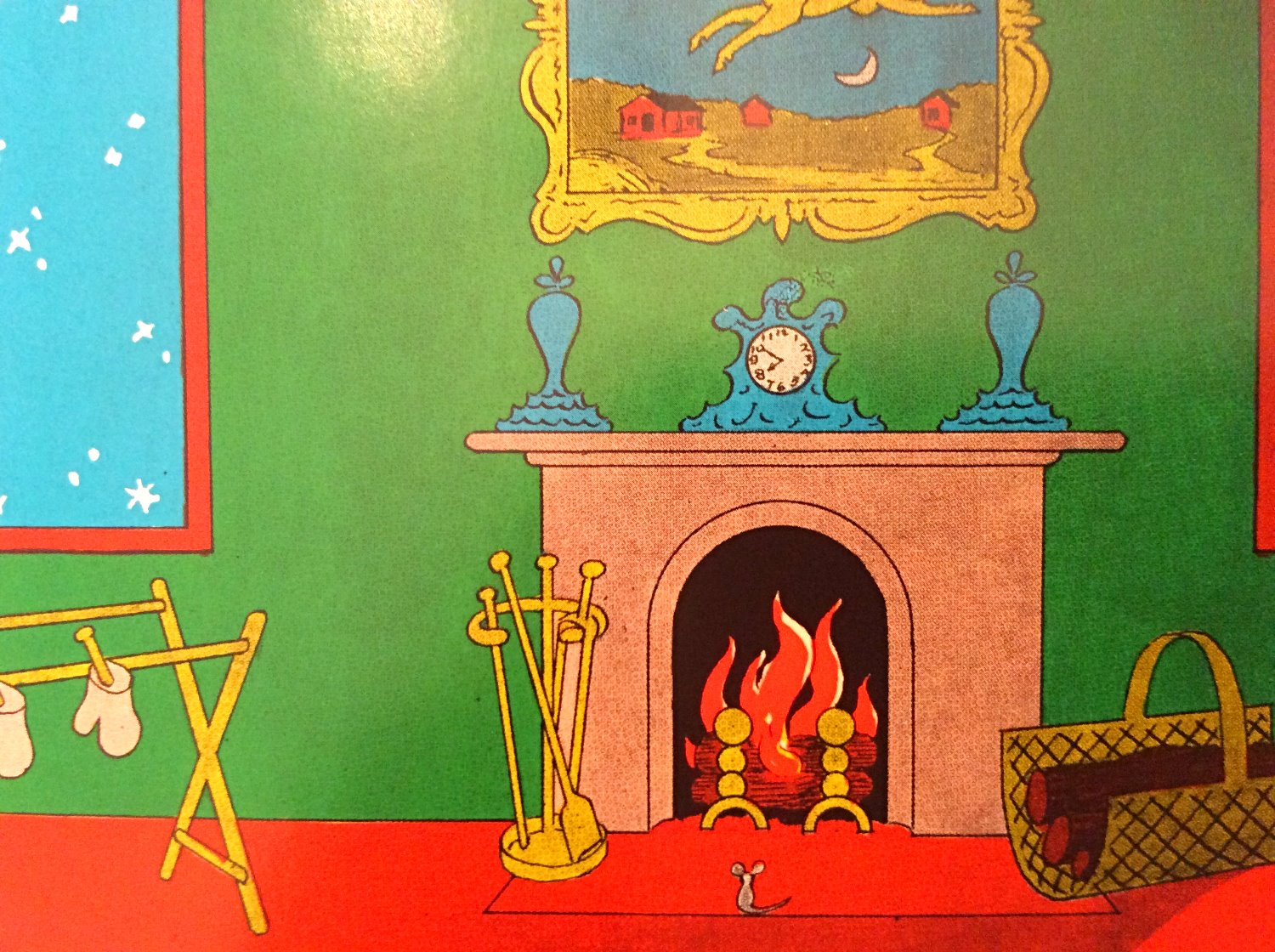 Mantel in the great green room
