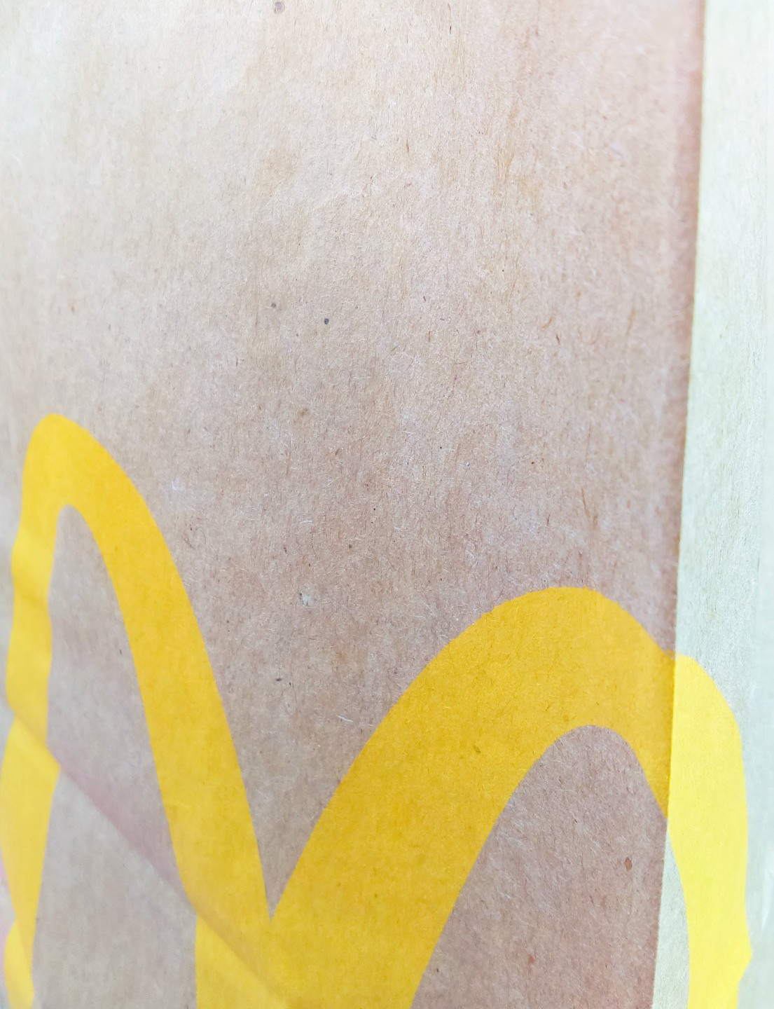golden arches on the bag